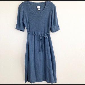 Motherhood Maternity Blue Sweater Dress Sz Small